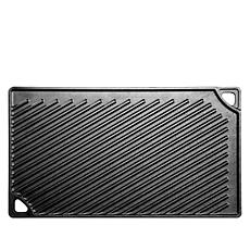 """Lodge 16.75"""" x 9.5"""" Cast Iron Reversible Grill/Griddle"""