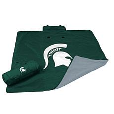 Logo Chair All Weather Blanket - Michigan State Un.