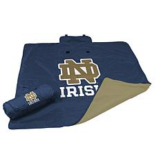Logo Chair All-Weather Blanket - Notre Dame University