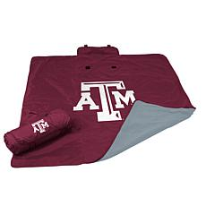 Logo Chair All Weather Blanket - Texas A&M University