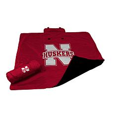 Logo Chair All-Weather Blanket - University of Nebraska