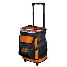 Logo Chair Rolling Cooler - Oklahoma State University