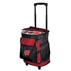 Logo Chair Rolling Cooler - University of Wisconsin