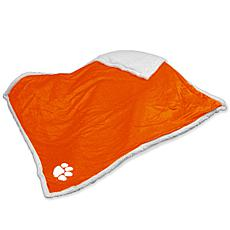 Logo Chair Sherpa Throw - Clemson University