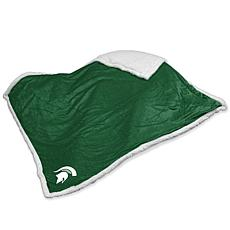 Logo Chair Sherpa Throw - Michigan State