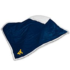 Logo Chair Sherpa Throw - University of West Virginia