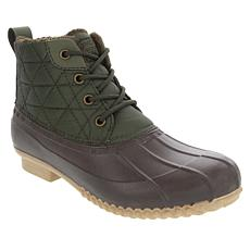 London Fog Winley Quilted Nylon Duck Boot