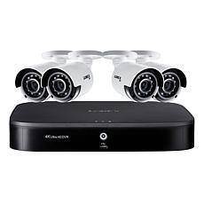 Lorex 4K UHD 8-Channel Security System w/2TB DVR & 4 UHD Cameras