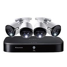 Lorex 8-Channel Security System w/2 TB DVR & 4 Ultra HD Bullet Cameras
