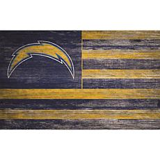 Los Angeles Chargers Distressed Flag 11x19