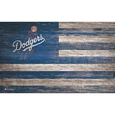Los Angeles Dodgers Distressed Flag 11x19