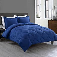 Lotus Home Bacteria Inhibiting Diamond Stitch Comforter Mini Set, Twin