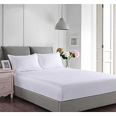 Lotus Home Stayclean Cotton Fitted Bed & Pillow Protector Set Twin
