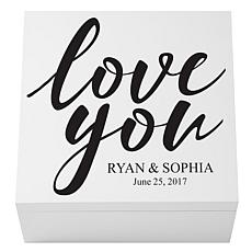 Love You Wedding Keepsake Box