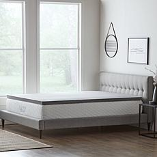 """LUCID Comfort Collection 2"""" Bamboo Charcoal Memory Foam Topper - Twin"""