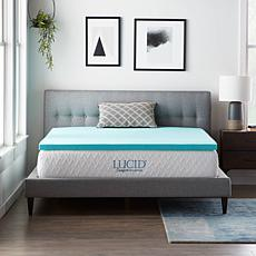 "LUCID Comfort Collection 2"" Gel Memory Foam Mattress Topper - Cal King"