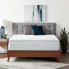 """Lucid Comfort Collection 2"""" Gel Memory Foam Topper with Cover, Twin"""