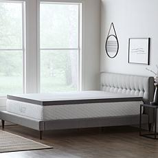 """LUCID Comfort Collection 3"""" Bamboo Charcoal Memory Foam Topper - Queen"""