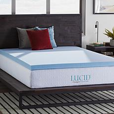 "LUCID Comfort Collection 3"" Gel Memory Foam Mattress Topper - Queen"