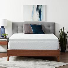 """Lucid Comfort Collection 3"""" Gel Memory Foam Topper with Cover, Queen"""