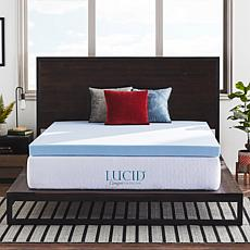 "LUCID Comfort Collection 4"" Gel Memory Foam Mattress Topper - Twin XL"