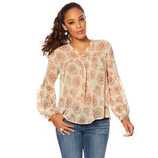 Lucky Brand Exploded Floral-Print Top