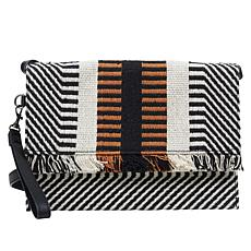 Lucky Brand Geld Striped Foldover Clutch