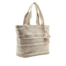 Lucky Brand Gena Woven Ikat Tote