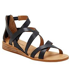 Lucky Brand Helenka Leather Wedge Sandal