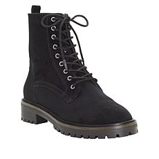 Lucky Brand Idara Suede Lace-Up Combat Boot