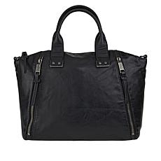 Lucky Brand Inzy Leather Satchel with Crossbody Strap