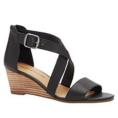 Lucky Brand Jenley Leather Wedge Sandal