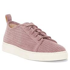 Lucky Brand Lawove Suede V-Perforation Lace-up Sneaker