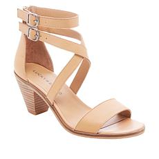 Lucky Brand Ressia Leather Cone-Heel Dress Sandal