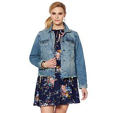 Lucky Brand Tomboy Trucker Jacket in Verve Fray - Plus