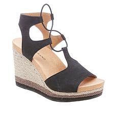 Lucky Brand Yeijida Leather Jute Wedge Espadrille Sandal