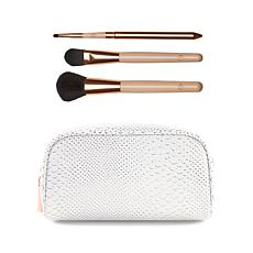 Luke Henderson Large  Case & 3pc Brush Set - White