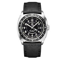 Luminox P-38 Lightning Black Leather Chronograph Watch