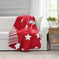 "Lush Décor Star Red Throw Blanket 50"" x 60"""