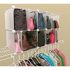 Luxury Living 10 Cubby Adjustable Purse Organizer