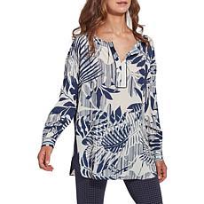 LYSSE Darby Printed Georgette Pullover Top  - Missy