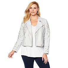 LYSSE Embroidered Jamie Grommet Jacket - Plus