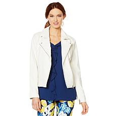 LYSSE Faux Leather Classic Moto Jacket - Missy