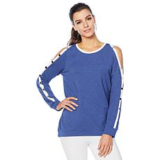 LYSSE French Terry Snap Sweatshirt - Missy