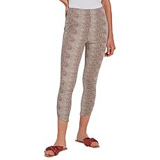 LYSSE Jasmyne Printed Petal-Hem Cropped Legging   - Missy