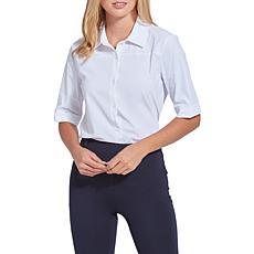 LYSSE Josie Slim Button-Down Shirt - Missy