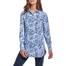 LYSSE Schiffer Printed Button-Down Shirt - Missy