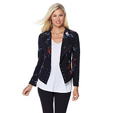 LYSSE Stretch Crepe Grommet Jory Cropped Jacket - Missy