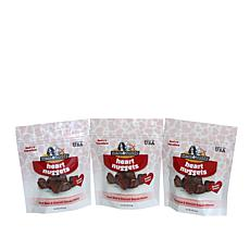 Macs & Buddy Grain-Free Beef Heart Nuggets Dog Snacks 3-pack
