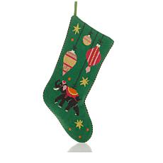 Madcap Cottage Needlepoint Stocking - Elephant